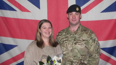 Corporal Darren Tearle with his wife Lorna