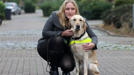 Siobhan Mead with her dog Mac