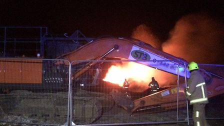 Firefighters tended the blaze on a building site on Old Roman Road, Radwinter this weekend.