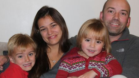 From left, Max, Jodie, India and Daniel Rowlandson.