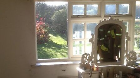 A fire broke out in an Ashdon home after the sun reflected off a mirror onto some curtains.