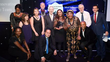 Members of North Hertfordshire Homes' Peter Sell House team in Hitchin picked up the Most Innovative