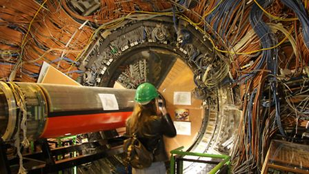 Students from Friends' School Saffron Walden were given the opportunity to see the Large Hadron Coll