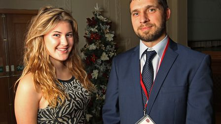 The Priory school pupil Chloe Brown and assistant head Dan Nearney at the Stand-By-Me event