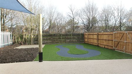 The outside play area