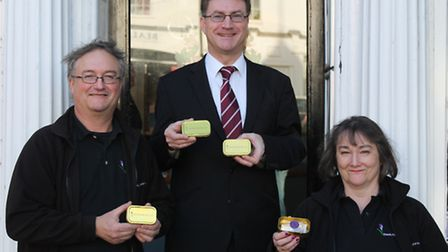 Brother and sister saffron team David Smale and Penny Attwood, with Mark Starte of Saffron Walden To