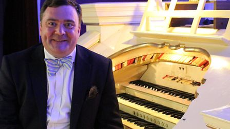 Donald Mackenzie, noted cinema organist who will play at St Mary's Church, Hitchin, in January