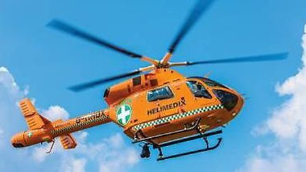 Magpas Helimdeix air ambulance service was called to Letchworth yesterday after a man collapsed.