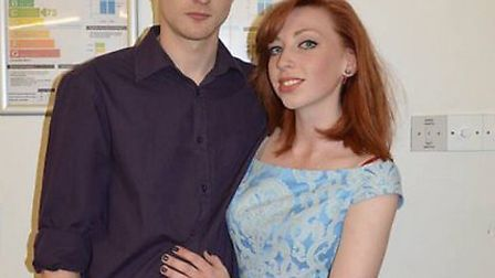 Matthew Vernon with his girlfriend of two-and-a-half years Hannah Clayden.