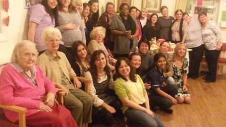 Much-loved carer Miflor Flores at her Westbourne Care Home leaving party