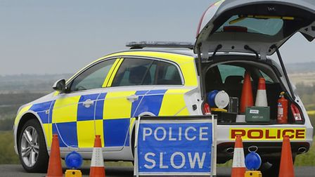 Police are looking for a cyclist of heavy build following a damage to a BMW this morning