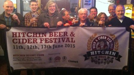Launching the 2015 Hitchin Beer Festival.