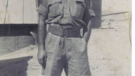George Matthews worked as a driver assigned to the Desert Rats in 1942. Credit: Barry Matthews