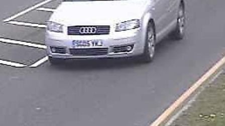 Police believe that this car may have been seen near to where some of the burglaries were committed.