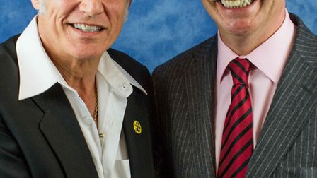Peter Day pictured with UKIP leader Nigel Farage. PHOTO: Victoria Thirtle.