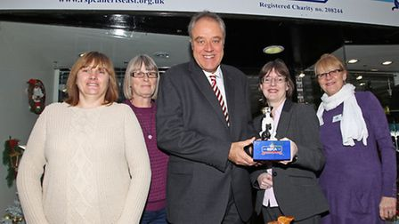 Richard Howitt MEP visits the staff and volunteers at the RSPCA store in Hitchin
