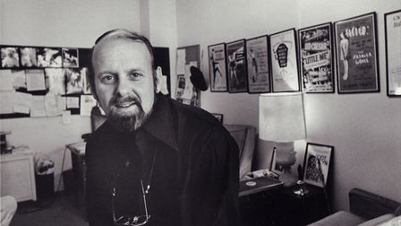New York, N.Y.: Bob Fosse sits in his Manhattan office at 850 7th Ave in New York, New York on March