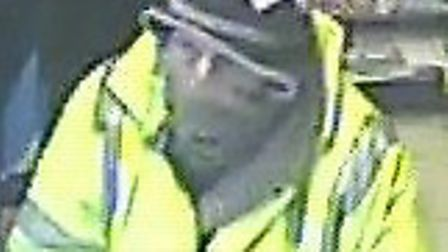 Police wish to speak to this man in relation to a theft which took place in Letchworth on January 19