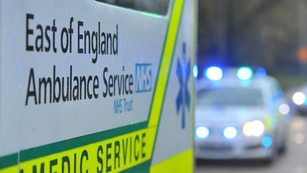 A man is in a serious condition in hospital following a two-car collision in Shefford this morning.