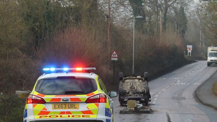 A 17-year-old girl's car collided just outside Saffron Walden County High School at around 10am on J