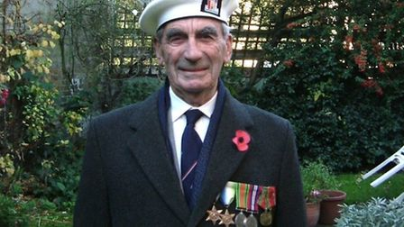 Duncan Harris, ready for the Cenotaph Remembrance Day parade in 2007. Medals from l-r: 1939-45 Star,