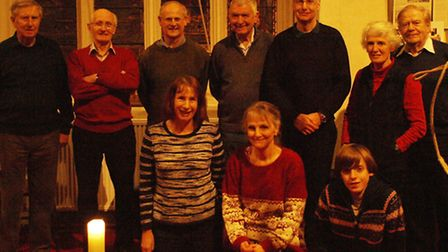 Hitchin's St Mary's Church bell ringers, led by David Kemp (back row, second-in from right), with 1