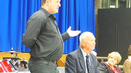 Steve Paffet speaking at the meeting on Monday night.