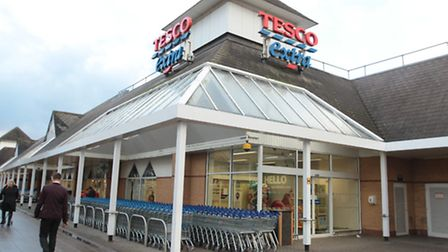 A member of staff died after collapsing at the Tesco Extra store in Stevenage town centre on Friday.