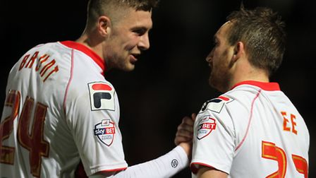 Ryan Brunt and Charlie Lee formed an effective partnership for Stevenage over the past few weeks. Ph