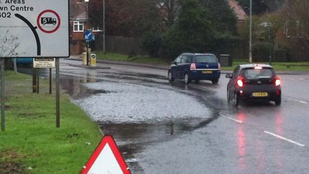 Regular flooding at the junction of Stevenage Road and The Willows/Whitehill Road is being investiga