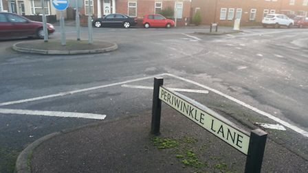 A woman was taken to hospital following a collision at Periwinkle Lane, Hitchin.