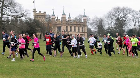 Runners make their way past Knebworth House. Picture by TheBigCheesePhotography.co.uk