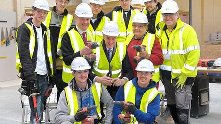 Construction Skills Academy in Hitchin - visit of Peter Lilley MP and government apprenticeships amb