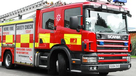 Essex Fire Service was called to the scene and rescued the suspected burglar off the roof of an Indi