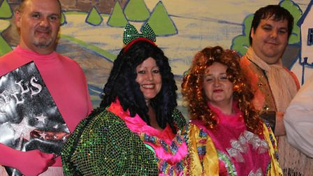 Cast members get set for Cinders at Henlow Theatre