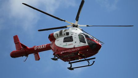 The Herts Air Ambulance has landed in Stevenage.