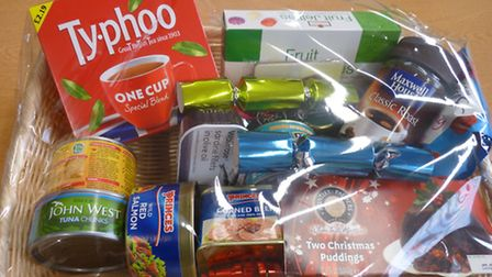 An anonymous person from Stevenage donated this hamper and £200 in cash after reading about a pensio