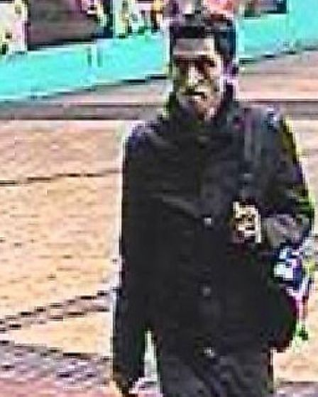 Police would like to speak to this man in connection with the theft.