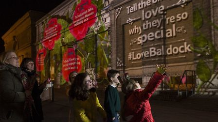 Tesco's Baldock store comes alive with romantic imagery and customer tweets using 3D mapping technol