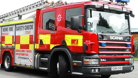 Two fire engines were called to a blaze in a house this morning in Hitchin.