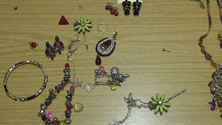 A member of the public found around fifty items of jewellery in a pillowcase behind the Yew Tree Inn