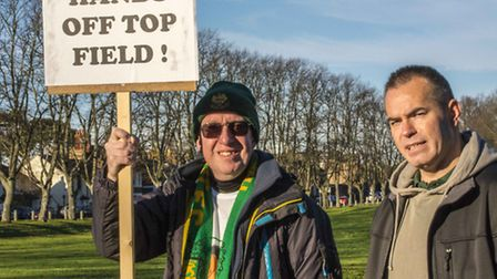 Supporters backing the Save Hitchin Town and Top Field campaign will be joined by Sky Sports' Jim Wh