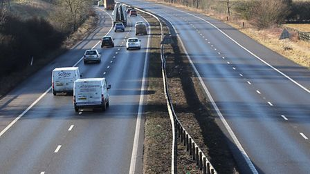 The A1(M) northbound remains closed after a serious crash.