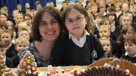 Year 1 pupils at Katherine Semar Infant School helped create a fairytale gingerbread village with pa