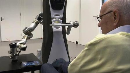 A social robot has been designed at the University of Hertfordshire to help elderly people who live