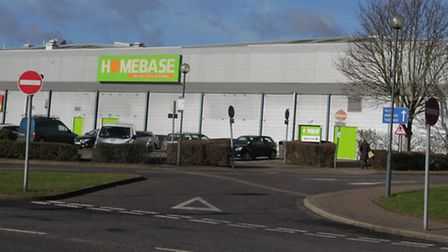The former Homebase building, pictured, could become three new ones.