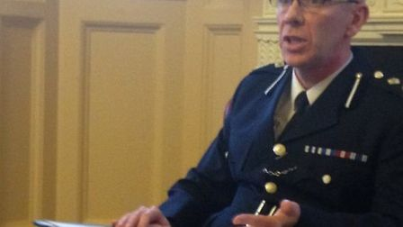 Deputy Chief Constable Derek Benson at a press conference today (Tuesday).