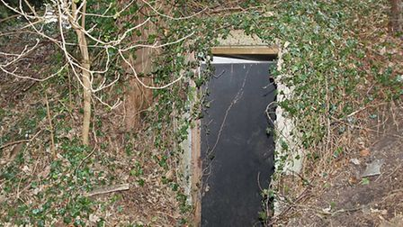 The entrance to an air raid shelter on Pixmore Avenue where a gas explosion injured a boy