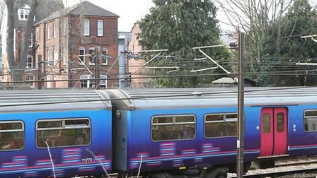 Trains are delayed after security checks at Hitchin railway station this afternoon.