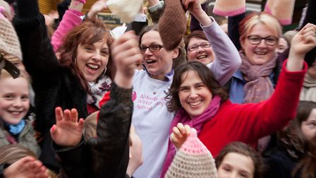 The people of Saffron Walden were out in force on Saturday to show their support for a 'booby flashm